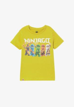 Print T-shirt - lime green