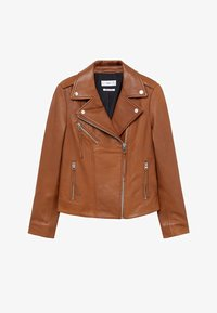 Mango - PERFECT - Veste en cuir - średni brązowy - 6