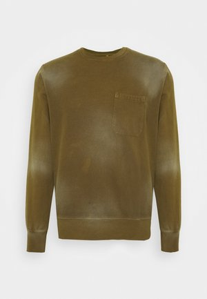 HEAVY WASHED POCKET - Sweatshirt - olive