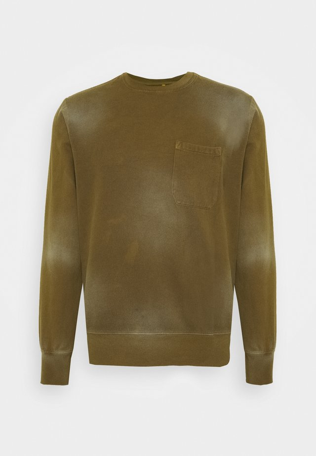 HEAVY WASHED POCKET - Sweatshirts - olive