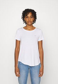 Hollister Co. - EASY CREW 3 PACK - Triko s potiskem - white/grey/black - 2