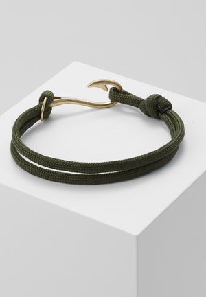 HOOKED BRACELET - Bracelet - khaki/gold