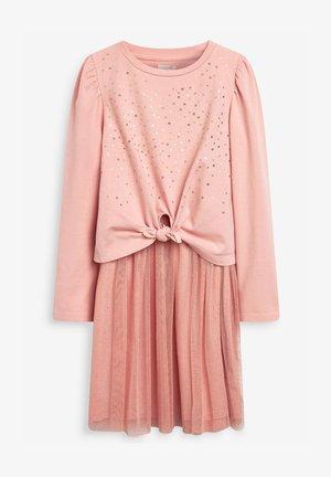 SEQUIN MESH SET - Jersey dress - pink