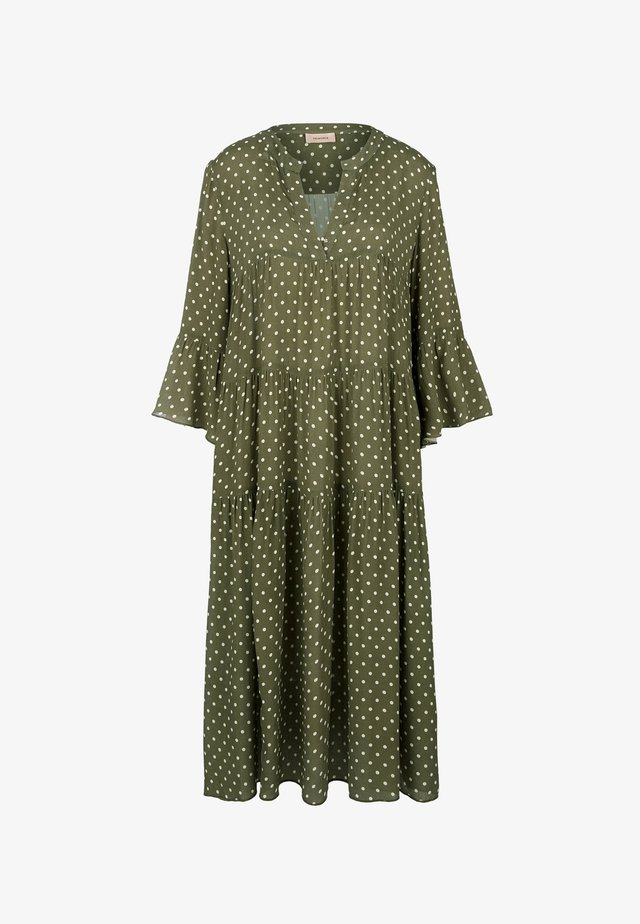 MIT PUNKTEMUSTER - Jersey dress - khaki dots