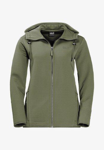 MODESTO  - Zip-up sweatshirt - light moss