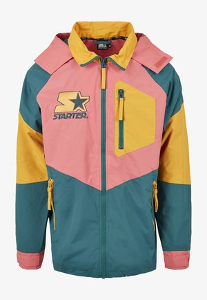 MULTICOLORED LOGO - Summer jacket - green/yellow/pink