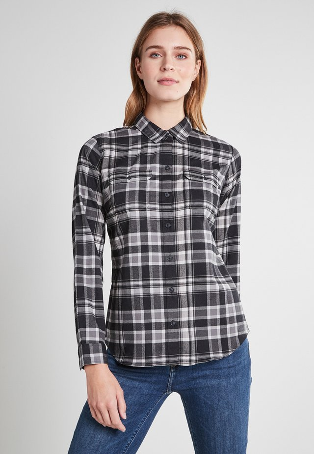 EXPEDITION FLEX  - Button-down blouse - schwarz