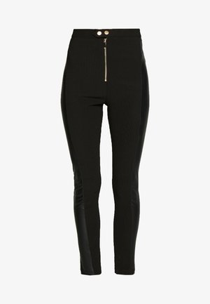 UTILITY ZIP FRONT MIX - Leggings - Hosen - black