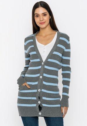 Cardigan - grey melange-blue