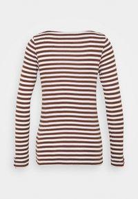 Esprit - STRIPE LONGSLEEVE - Long sleeved top - brown - 1