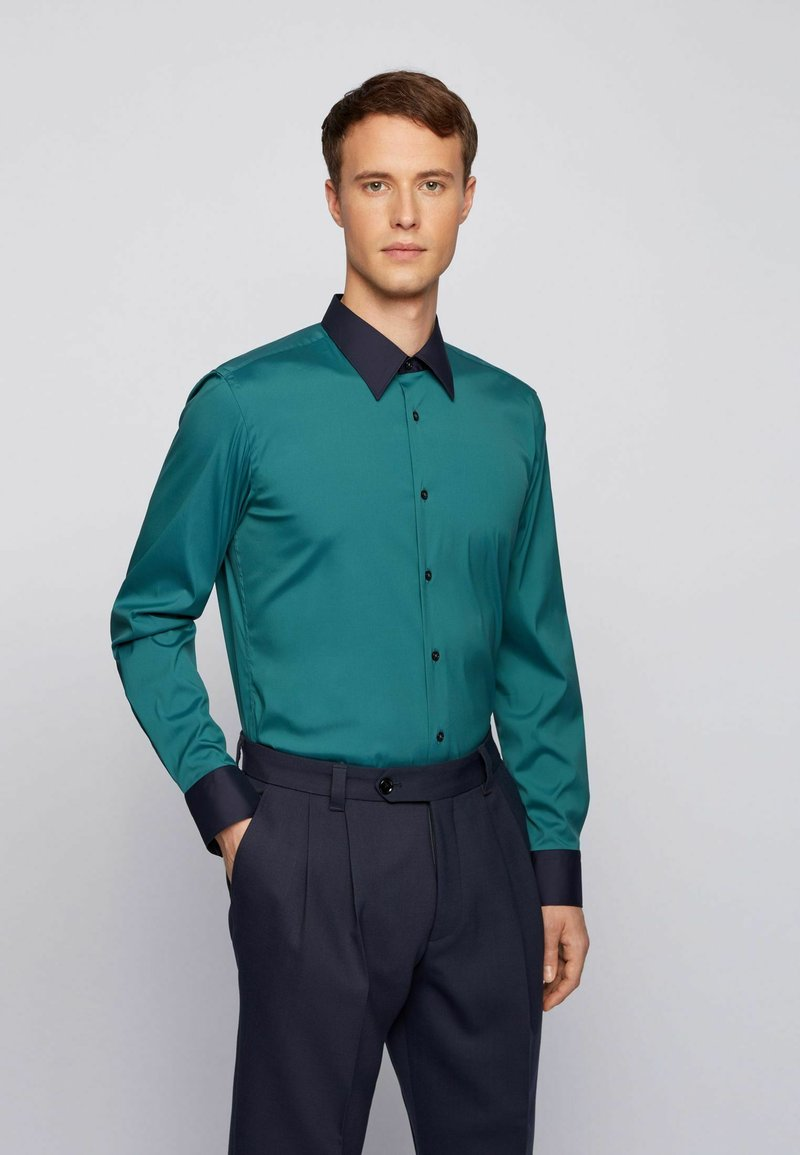BOSS - Camicia elegante - open green