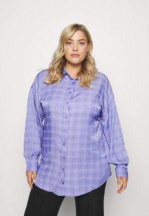 CHECK  - Button-down blouse - blue/purple