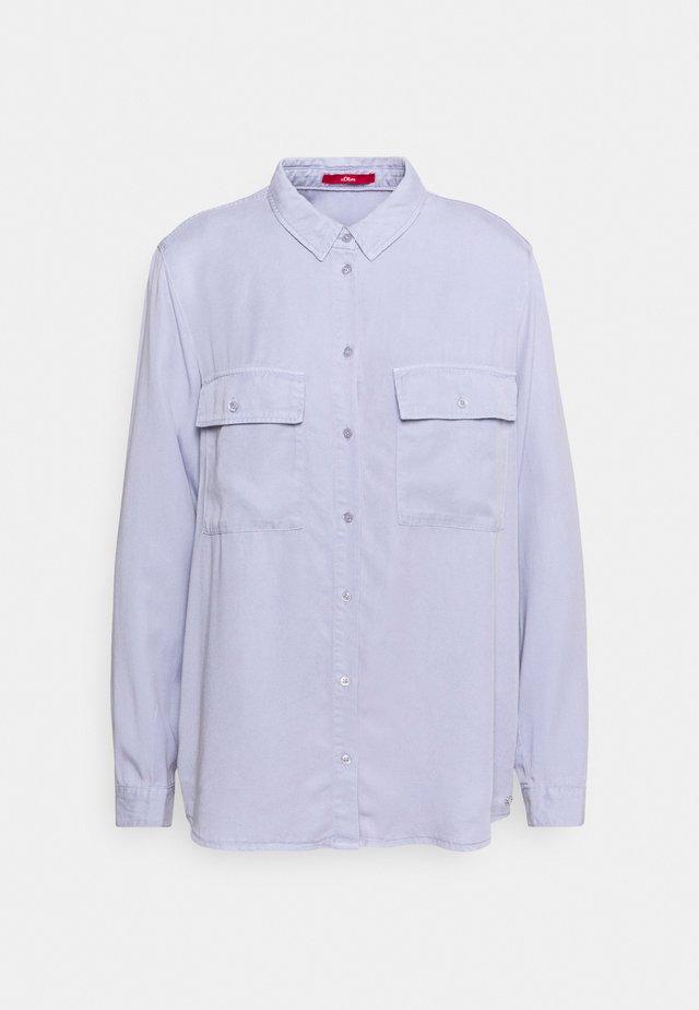 Button-down blouse - purple haz