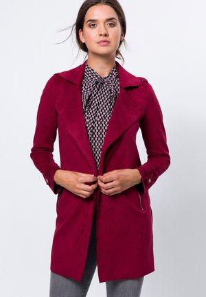 Short coat - claret red