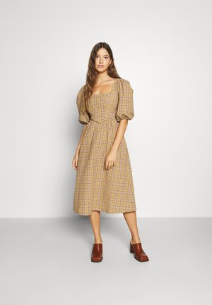 PHYLLIS MILK MAID DRESS - Vapaa-ajan mekko - ivory/yellow/camel