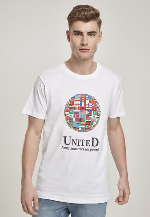 UNITED WORLD  - T-shirt con stampa - white