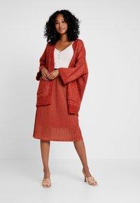 YAS - YASALURA SKIRT - A-line skirt - rooibos tea - 1
