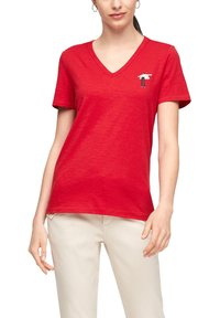 s.Oliver - Print T-shirt - red - 6