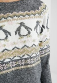 Dorothy Perkins - FAIRISLE TINSEL PENGUIN - Jumper - grey marl - 5