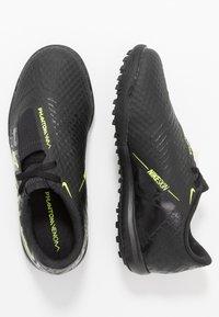 Nike Performance - PHANTOM ACADEMY TF - Kopačky na umělý trávník - black/volt - 0