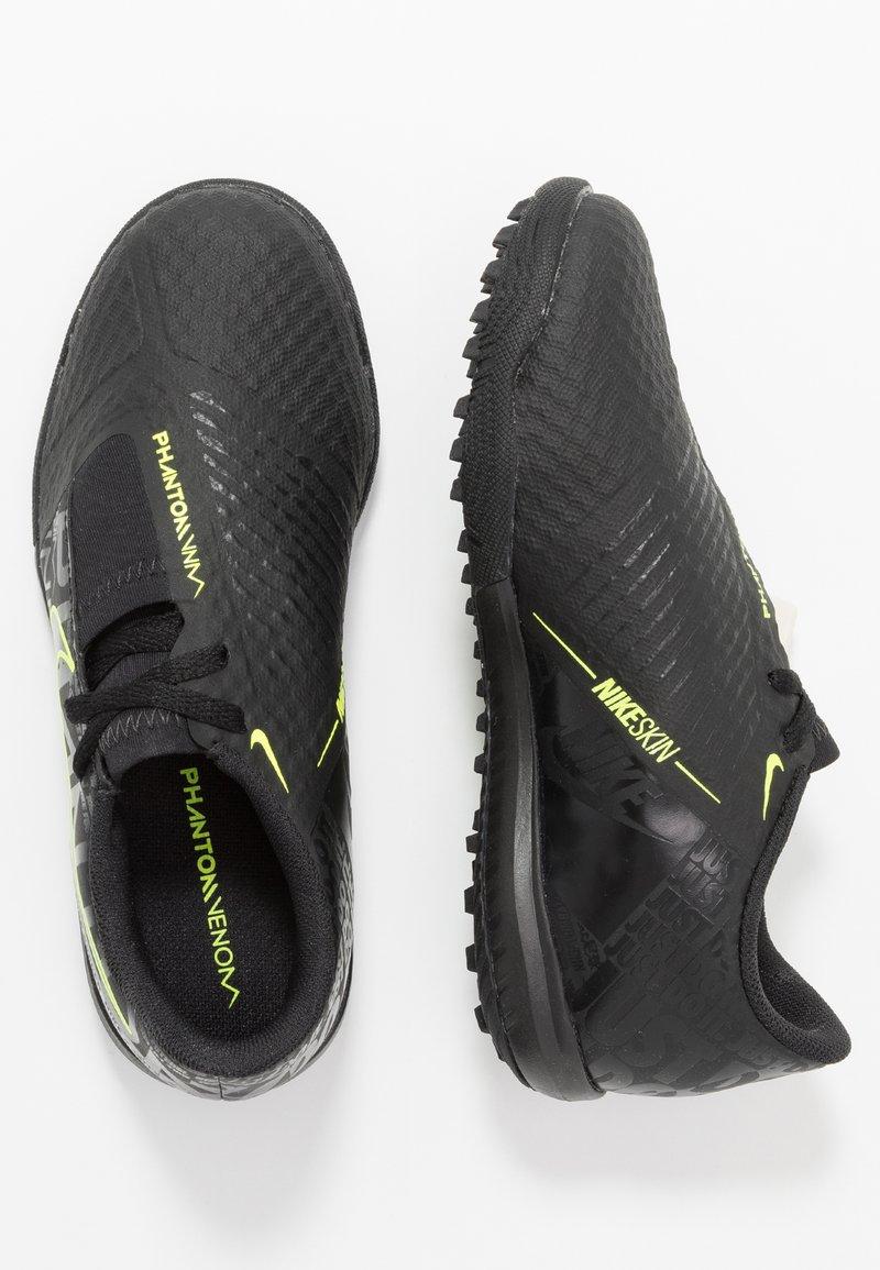 Nike Performance - PHANTOM ACADEMY TF - Kopačky na umělý trávník - black/volt