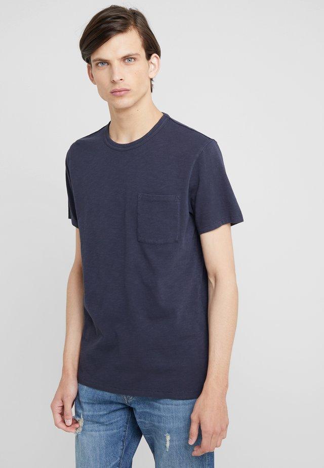 GARMENT DYE TEE - T-shirt basic - marine navy