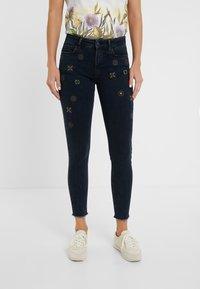 Desigual - JULIETA - Jeans slim fit - denim blue black - 1