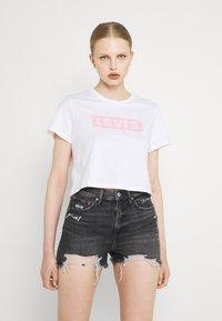 Levi's® - CROPPED JORDIE TEE - T-shirt z nadrukiem - tbd104 - 0