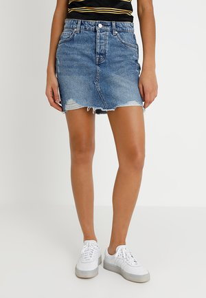 ONLSKY SKIRT - Farkkuhame - light blue denim