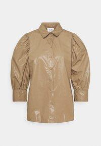 LAMOUR  - Button-down blouse - sepia tint