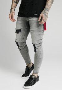 SIKSILK - DISTRESSED FLIGHT - Jeans Skinny Fit - snow wash - 0