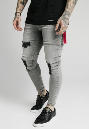 DISTRESSED FLIGHT - Skinny džíny - snow wash