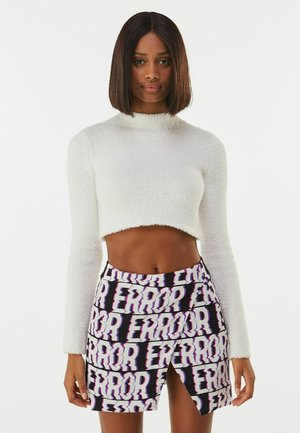 MIT PRINT  - A-line skirt - black