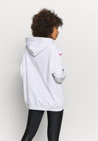 MSGM - FELPA - Hoodie - mottled light grey - 2