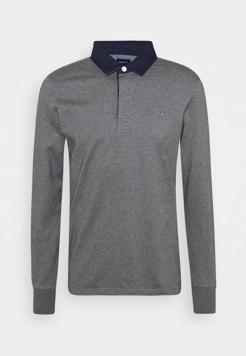 GANT - THE ORIGINAL HEAVY RUGGER - Polo shirt - mottled dark grey