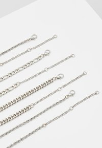 Topman - TWIST CHAIN MROW 4 PACK - Necklace - rhodium-coloured - 2