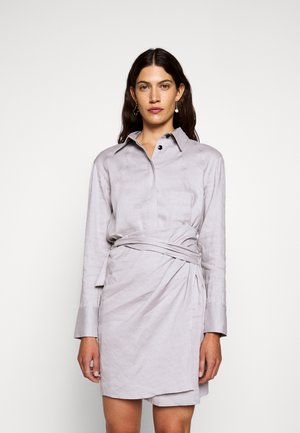 BLEND LONG SLEEVE WRAP DRESS - Abito a camicia - grey