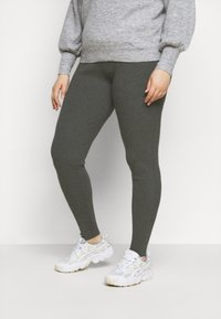 Even&Odd Curvy - Leggings - Trousers - mottled dark grey - 0