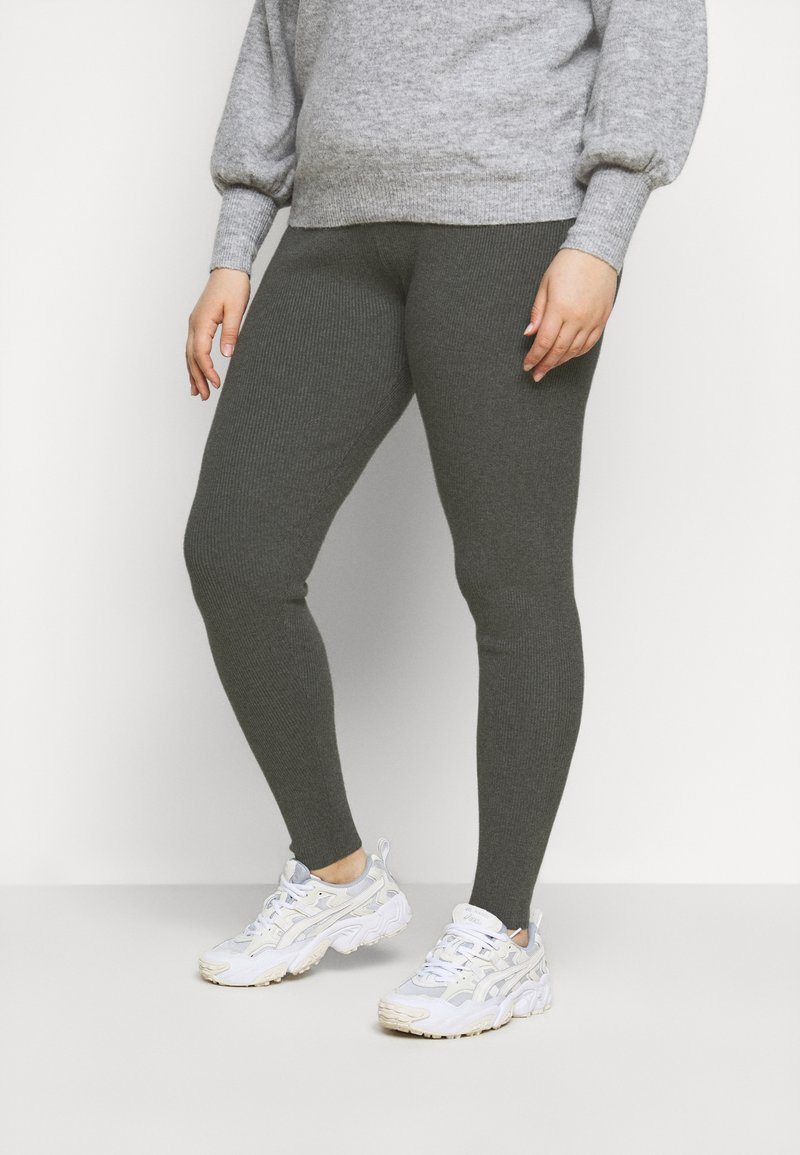 Even&Odd Curvy - Leggings - Trousers - mottled dark grey