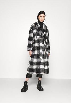 CHECK - Classic coat - mono