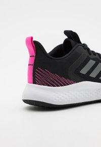adidas Performance - FLUIDSTREET - Sportschoenen - core black/iron metallic/screaming pink - 5