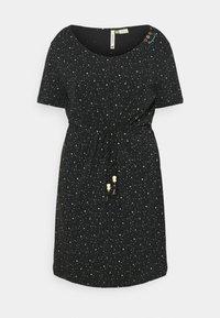 Ragwear Plus - PELIADA ORGANIC - Žerzejové šaty - black - 0