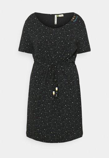 PELIADA ORGANIC - Žerzejové šaty - black