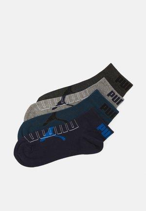 MEN OUTLINE LOGO QUARTER 4 PACK - Ankelsockor - blue/grey combo