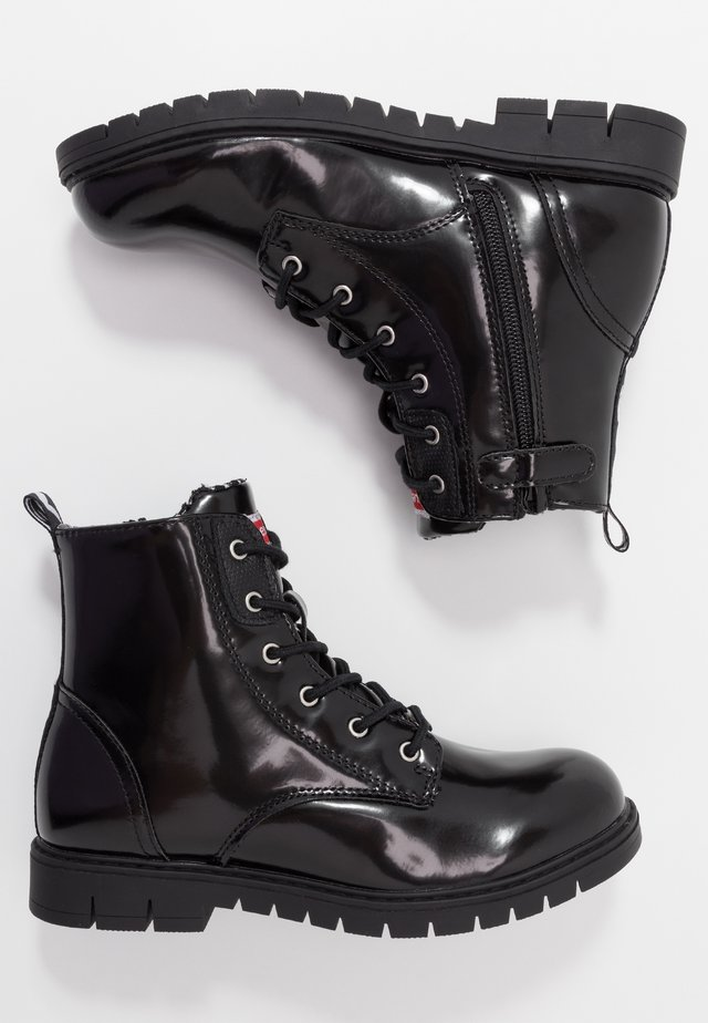 PASADENA - Bottines à lacets - black