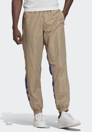 BIG TREFOIL COLORBLOCK WOVEN TRACKSUIT BOTTOMS - Verryttelyhousut - brown
