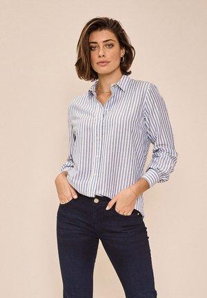 Button-down blouse - bel air blue