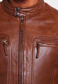 Oakwood - CASEY  - Leather jacket - tobacco - 4