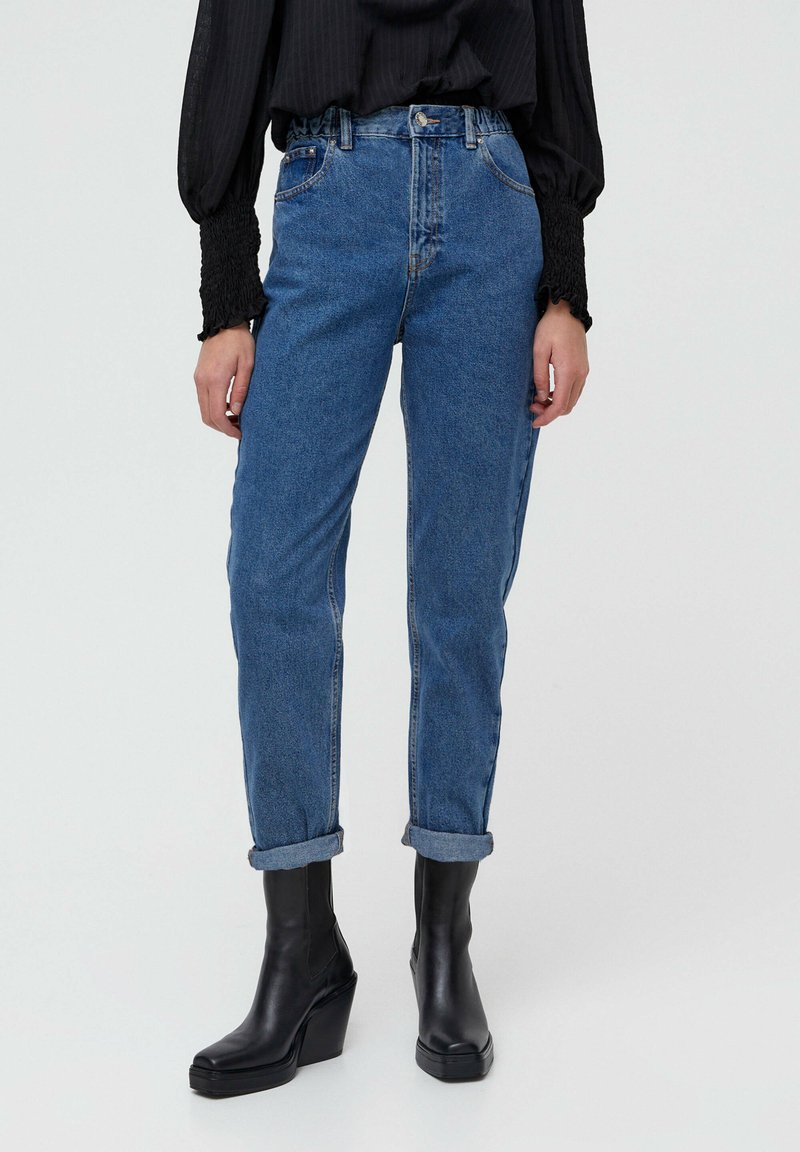 PULL&BEAR - MOM - Jeans baggy - blue