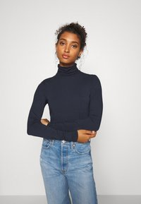 Weekday - CHIE TURTLENECK - T-shirt à manches longues - navy - 0